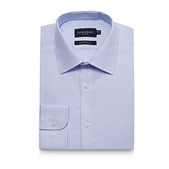 Osborne - Big and tall blue textured stripe tailored shirt