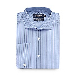 Osborne - Big and tall light blue multi striped regular shirt