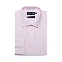 Osborne - Big and tall pink textured stripe extra long tailored shirt