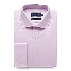 Osborne - Big and tall pink regular fit plain oxford shirt
