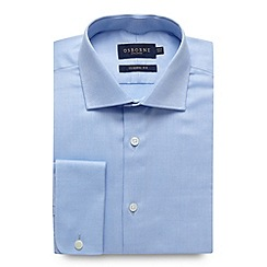 Osborne - Big and tall blue regular fit plain oxford shirt