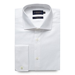 Osborne - White regular fit plain oxford shirt