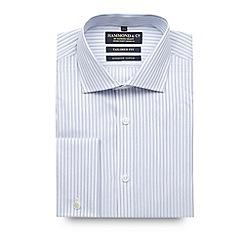 Hammond & Co. by Patrick Grant - Designer white triple stripe tailored shirt