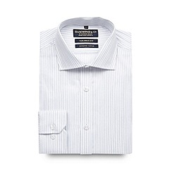 Hammond & Co. by Patrick Grant - Big and tall designer white stitch stripe tailored shirt