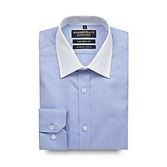 Hammond & Co. by Patrick Grant - Big and tall designer light blue tailored oxford shirt