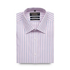 Hammond & Co. by Patrick Grant - Big and tall designer pink striped tailored shirt