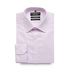 Hammond & Co. by Patrick Grant - Big and tall designer pink tailored fit fine twill shirt