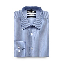 Hammond & Co. by Patrick Grant - Designer blue tailored fit striped shirt