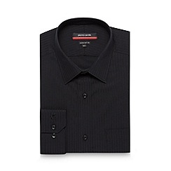 Pierre Cardin - Black twill striped tailored shirt