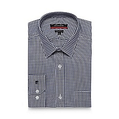 Pierre Cardin - Navy gingham checked tailored shirt