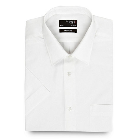 Thomas Nash - White ultimate plain short sleeve shirt
