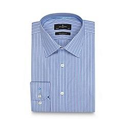 Jeff Banks - Designer blue multi striped tailored shirt