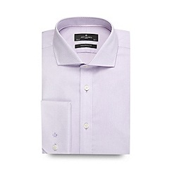 Jeff Banks - Designer lilac zig zag textured tailored shirt