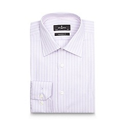 Jeff Banks - Big and tall designer lilac striped herringbone tailored shirt