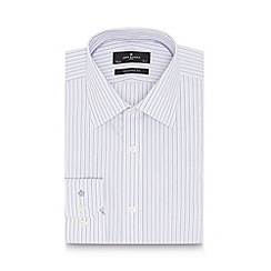 Jeff Banks - Big and tall designer lilac striped tailored shirt