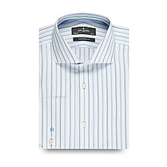 Jeff Banks - Designer blue bold striped tailored fit shirt