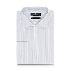 Jeff Banks - Big and tall designer grey striped cotton tailored shirt