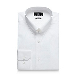 Jeff Banks - Big and tall designer white tab collar tailored shirt