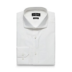 Jeff Banks - Big and tall designer white slim fit shirt