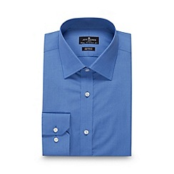 Jeff Banks - Big and tall designer blue tailored fit shirt