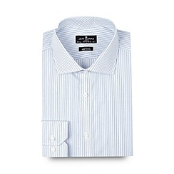 Jeff Banks - Big and tall designer light blue two tone striped regular fit shirt