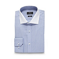 Jeff Banks - Designer light blue fine striped shirt