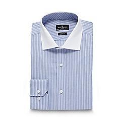 Jeff Banks - Designer light blue fine striped shirt