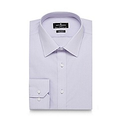 Jeff Banks - Big and tall designer lilac fine striped tailored shirt