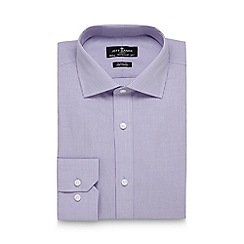Jeff Banks - Designer lilac mini gingham checked regular shirt