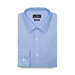 Jeff Banks - Big and tall designer blue extra long tailored shirt