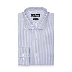 Jeff Banks - Designer blue two tone striped extra long regular shirt