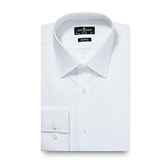 Jeff Banks - Big and tall designer white poplin cotton tailored fit shirt