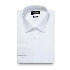 Jeff Banks - Designer white poplin cotton tailored fit shirt