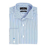 Jeff Banks Blue bold striped shirt
