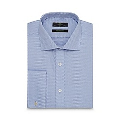 J by Jasper Conran - Big and tall designer blue heavy twill and dash tailored fit shirt