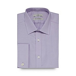 J by Jasper Conran - Big and tall designer lilac heavy zigzag tailored shirt
