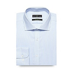J by Jasper Conran - Big and tall designer light blue herringbone stripe tailored shirt