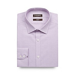 St George by Duffer - Purple birdseye cotton slim fit shirt