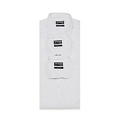 The Collection - Big and tall pack of three white regular fit shirts