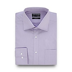 The Collection - Big and tall lilac regular fit shirt