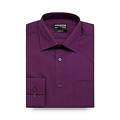 The Collection - Big and tall purple regular fit shirt