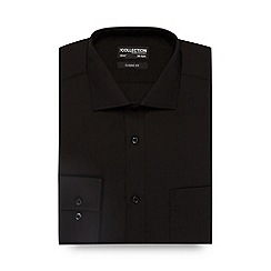 The Collection - Big and tall black plain classic fit shirt