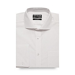 The Collection - White double cuff tailored fit shirt