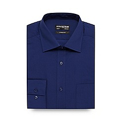 The Collection - Big and tall dark blue regular fit shirt