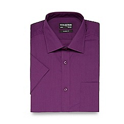 The Collection - Purple plain regular fit shirt