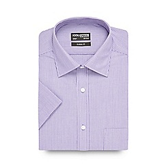 The Collection - Big and tall lilac striped short sleeved shirt