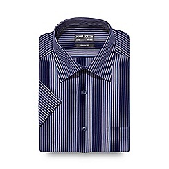 The Collection - Big and tall navy two tone striped regular shirt