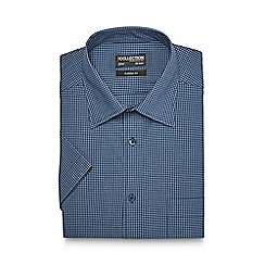 The Collection - Big and tall navy mini checked regular shirt