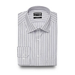 The Collection - Big and tall white tonal striped tailored shirt
