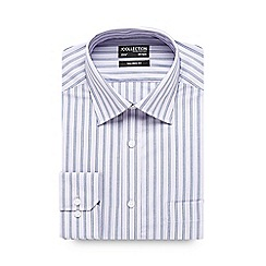 The Collection - Big and tall lilac bold striped tailored shirt